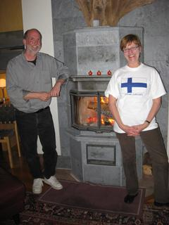 International Order of Runeberg member''s  sapstone Tulikivi's masonry fireplace