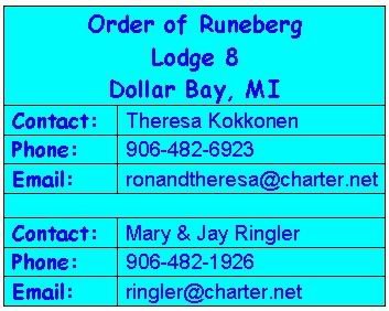 Runeberg Lodge 8 Contacts