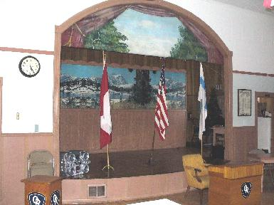 IOR Lodge 8, Dollar Bay, MI - view of lodge's stage